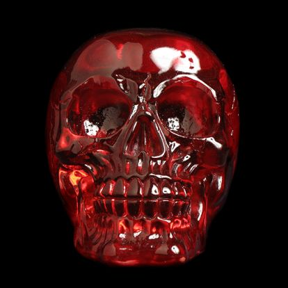 Red clear skull