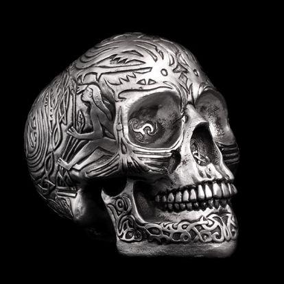 Celtic silver skull