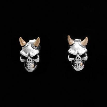 Boucles d'oreilles crânes de démon