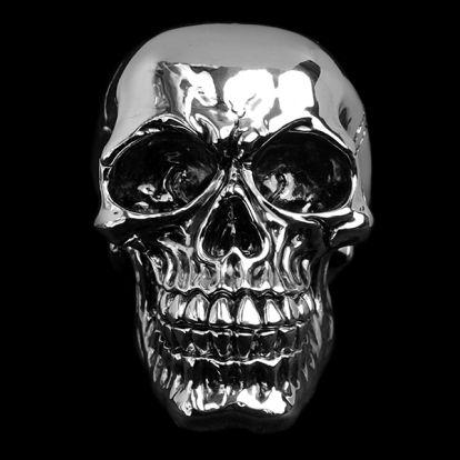 Petit crâne chromé