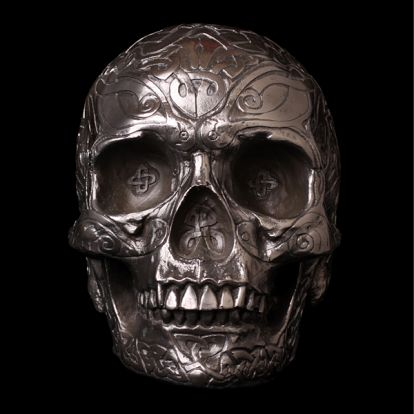 Celtic metal skull