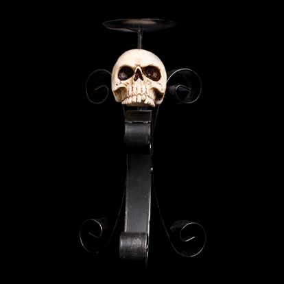 Skull candleholder
