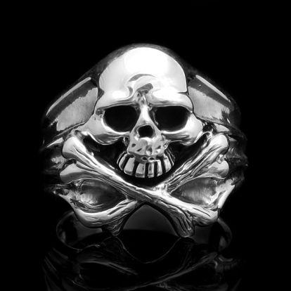 Bague crâne + os = danger