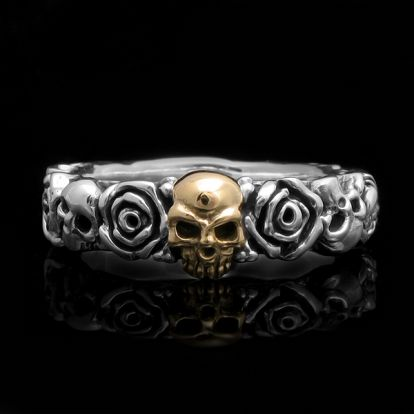 Skulls and roses ringband