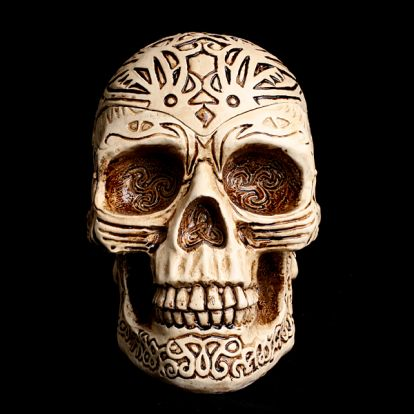 Celtic skull ashtray