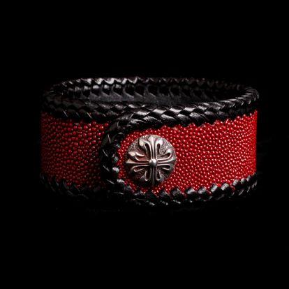 Bracelet galuchat rouge