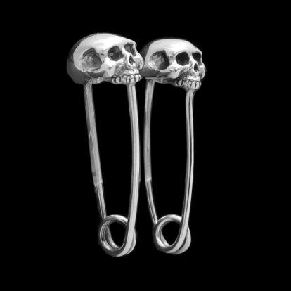 Skull Hairpin nurse earrings