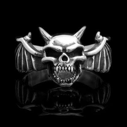 Bague crâne de démon